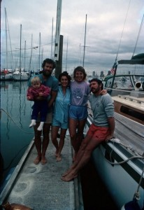 BooDawg (holding Kathrine), Barrie, Nancy, Guido in Auckland.