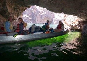 Canoeing in Emerald Cave