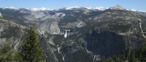 Clark Range with Vernal and Nevada Falls
