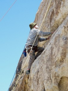 Allen Steck Climbing at Joshua Tree