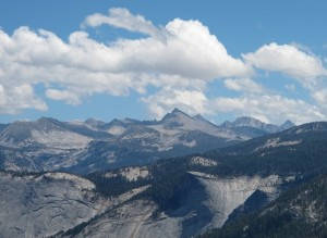 Mt Lyell (highest peak in Yosemite) and neighboring peaks from Washburn Point