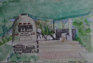 Airstream painting  by Lisa