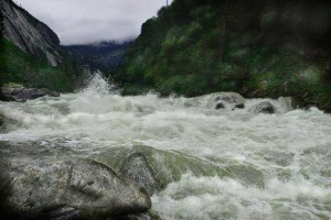 Rapids on Merced River Canyon